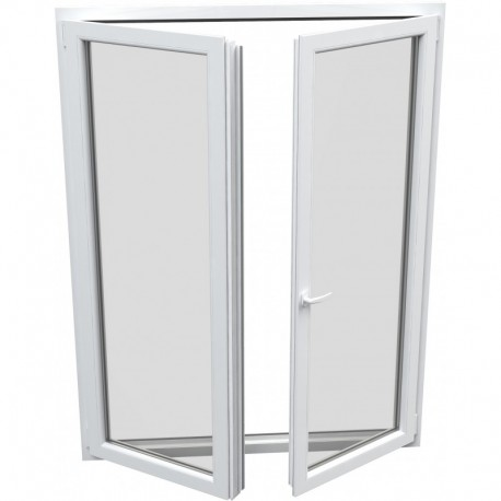 Dvojkrídlové plastové balkónové dvere - otváravé + otváravo-sklopné, šírka: 1600mm, výška: 2000mm